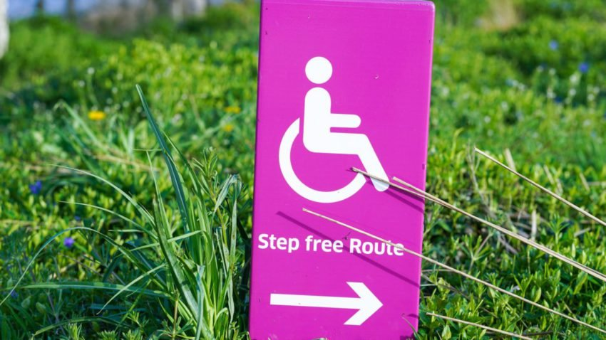 Accessability sign in grass