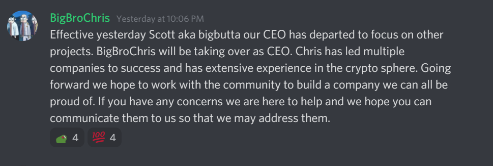 new ceo announcement from dfi